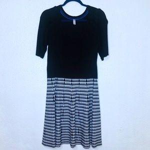 Xhilaration Black Houndstooth Sweater Dress